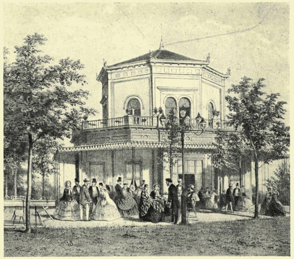 RJb1927 DE OFFICIEREN-SOCIËTEIT IN HET PARK IN 1862