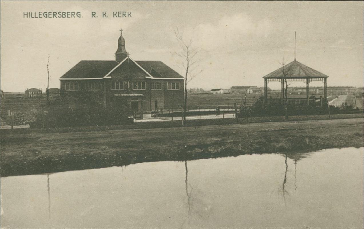 Hillegersberg Muziektent en RK kerk 1924